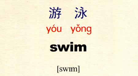 Tự học tiếng Trung với từ 游泳: Bơi