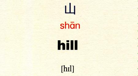 Tự học tiếng Trung với từ 山 钱 钓鱼 篮球 信封