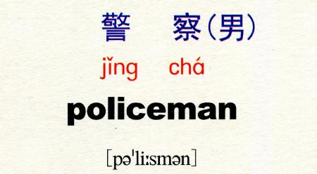 Tự học tiếng Trung với từ 警察 医生 唱歌 写 跳舞 服务员 护士 吃