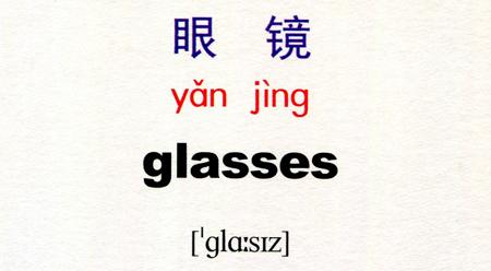 Học tiếng Trung Quốc với từ眼镜