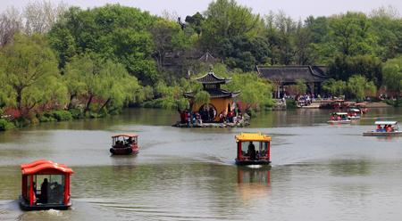 Chèo thuyền ở Tiểu Tây Hồ - Dương Châu Trung Quốc