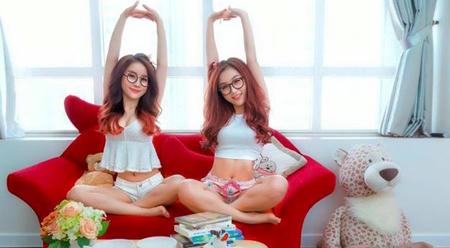 Bài văn mẫu tiếng Trung (1) Hai chị em xinh đẹp