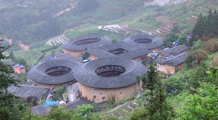 Nhà đắp đất ở Nam Tĩnh – Phúc Kiến Trung Quốc