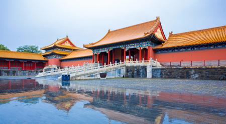 Cố Cung Bắc Kinh sau cơn mưa