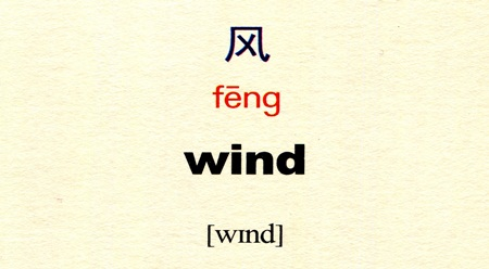 Tự học tiếng Trung với danh từ Gió 风