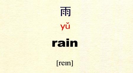 Tự học tiếng Trung với danh từ Mưa 雨