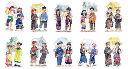 Giới thiệu tên gọi 54 dân tộc Việt Nam