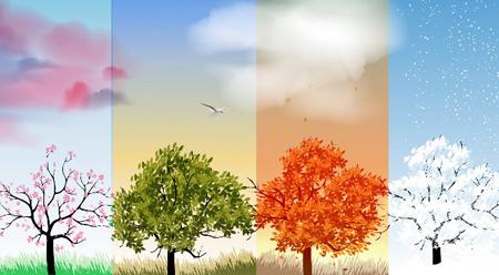 Bài văn mẫu tiếng Trung (29) Bài ca bốn mùa